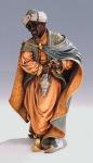 BG Krippenfigur Balthasar schw.m.Weih.col.11x10x23 für Krippe 21 cm by Faro Italien