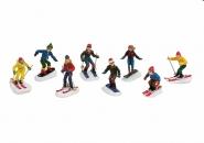 Lichthaus G.Wurm  Zubehör Miniatur Skifahrer Snowboard ca.6 cm diverse Modelle einzeln