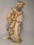 Krippenfigur Caspar mit Myrrhe Elfenbeinfarben 10x12x23 cm für Krippe 21 cm by Faro Italien