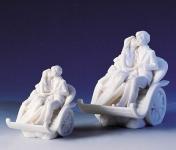 Liebespaar in Kutsche klein oder groß hochwertiger Kunstguß Figur Statue by Faro Italien