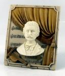 Strauß Büste mit Notenblatt hochwertiger Kunstguß Figur Statue by Faro Italien