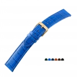 Di-Modell Uhrenarmband Krokodil Louisiana Prägung Uhrarmband Schließe Leder