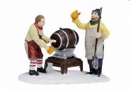 Lichthaus G.Wurm  Zubehör weihnachtliche Miniatur Bierfass Szene 6 cm