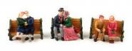 Lichthaus G.Wurm  weihnachtliche Miniatur Winterszene Paare auf der Bank