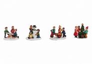 Lichthaus Wurm  Zubehör weihnachtliche Miniatur Winterszene Kindergruppe 4 cm