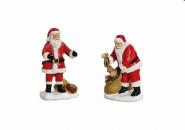 Lichthaus G.Wurm  Zubehör weihnachtliche Miniatur Weihnachtsmann Sack Glocke