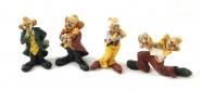 Clowns minis 4 diverse Modelle Kunstguß von Claudio Vivian by Faro Italien