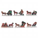 Lichthaus G.Wurm  Zubehör weihnachtliche Miniatur Pferdeschlitten 9x5 cm