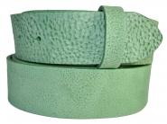 Leder Gürtel Wechselgürtel Vollrindleder Rindsleder mint grün Gump mix 4 cm breite