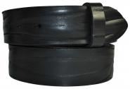 "Leder Gürtel Wechselgürtel ""gecrushtes"" schwarz Vollrindleder Rindsleder 4 cm breite"