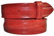 """Leder Gürtel Wechselgürtel """"gecrushtes"""" rot Vollrindleder Rindsleder 4 cm breite"""