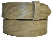 "Leder Gürtel Wechselgürtel ""gecrushtes"" taupe Vollrindleder Rindsleder 4 cm breite"