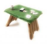 Tisch für Skatspieler Cowns von Claudio Vivian by Faro Italien Kunstguß