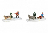 Lichthaus G.Wurm weihnachtliche Miniatur Weihnachtsfiguren Set 3 teilig 3-5 cm