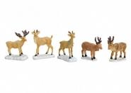 Lichthaus G.Wurm weihnachtliche Miniatur Hirsch Figuren Set 6 teilig 6x6 cm