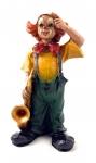 Clown Figur Saxophon Kunstguß von Claudio Vivian by Faro Italien Kunstguß