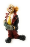 Clown mit Ziehharmonika 12 cm von Claudio Vivian by Faro Italien