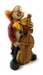 Clown stehend mit Violoncello 12 cm von Claudio Vivian by Faro Italien