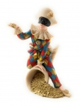 Pierrot mit Gold 10x11x17 cm von Claudio Vivian by Faro Italien