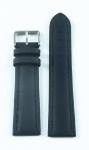 Uhrarmband Wechsel Band Ersatzband Schließe Leder 22 mm blau Wulst bracelet