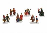 Lichthaus Wurm  Zubehör weihnachtliche Miniatur Winterszene Paare Personen 5x5 cm