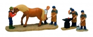 Lichthaus G.Wurm weihnachtliche Miniatur Hufschied Figuren Set 3 teilig