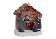 Lichthaus G.Wurm  Zubehör Winterdorf Marktstand Stände Porzellan Weihnachtsmarkt 56790 CHRISTSTOLLEN STAND 7X5X7CM