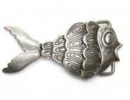 Schließe Buckle Gürtel-Schnalle Fish Wechselschließe für 4 cm Designer Gürtel