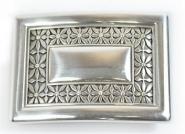 Schließe Buckle Gürtel-Schnalle Blumen Silber Designer Schnallen 4 cm Gürtel