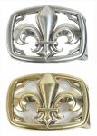 Schließe Buckle Gürtel-Schnalle Schließe Lilie rechteckig gold oder silber Wechselschließe