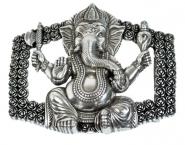Schließe Buckle Gürtel-Schnalle Metall  Ganesha Designer Schnallen für 4 cm Gürtel