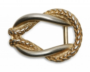Schließe Buckle Gürtel-Schnalle Metall Crossroads 4 cm Design Wechselschließe