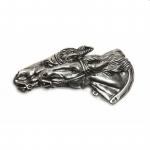 Schließe Buckle Gürtel-Schnalle Horseracing silber Wechselschließe Schnallen