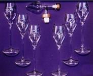 Centellino Geschenkbox Siritosen Dekanter Grappa Trester Giftbox, 35ml, 6 Gläser Digistiv, Kristallglas