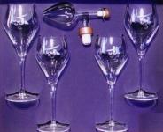 Centellino Geschenkbox Portwein Dekanter 60ml. + 4 Südwein Gläser Kristall