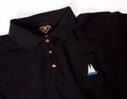 FK Poloshirt exclusive schwarz blau oder weiß Polo Shirt  Kölner Dom als Knopf