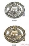 Schließe Buckle Gürtel-Schnalle Budda Metall Wechselschließe Schnallen 8,5x7,5 cm