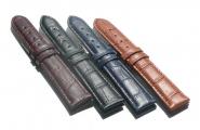 Uhrarmband Uhrenband Uhrband Schließe Leder-Band matt Kroko Watch strap Lausanne