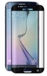 """Tempered Glass """"Hartglas"""" Schutzglas H9 Echtglas Panzer Folie Protector Samsung Galaxy S6 Edge Plus voll Schutz schwarz"""