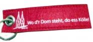 Schlüsselanhänger Filz Key ring Kölner Dom Köln rot weiß Wo d`r Dom seht, do es Kölle!
