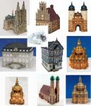Modell Figur Miniatur aus Porzellan G.Wurm mit Licht Kölner Dom Köln München Frauenkirche Bonn Rathaus Brückentor Heidelberg Killingerhaus Idstein Rathaus Münster Dresden Frauenkirche