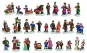Lichthaus G.Wurm  Zubehör Miniatur Personen ca.3-5 cm diverse Modelle einzeln erhältlich
